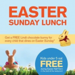 FREE LINDT BUNNY FOR EVERY CHILD DINING