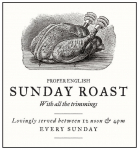 Traditional Sunday Lunch £9.95