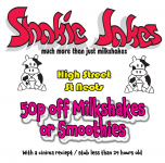 50p off any Milkshake or Smoothie with your cinema receipt..