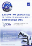 Mizuno 2014 Custom Fit Irons - Satisfaction Guaranteed or Your Money Back