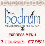 3 Course Meal only £7.95 - The Bodrum Restaurant St.Neots