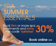Spa Summer Essentials – Save 30% when two or more treatments are booked @spalondon