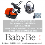 Free Lassig Changing Bag & Half Price BeSafe iZi Go Infant with Bugaboo or UPPAbaby Pram / Pushchair
