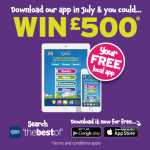 Download our FREE app and you could win £500!
