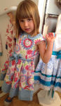 Kite bird and flower summer dress on sale at Coccolino, £26.00