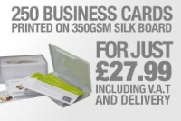 250 business cards for just £27.99