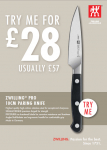 Zwilling-Pro 10cm Paring Knife Better than Half Price