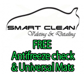 FREE Antifreeze Check / Top up and FREE Universal Mats