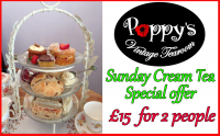 Sunday Cream Tea for Two Only £15