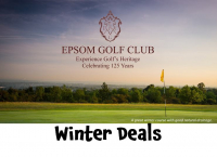 Special WINTER GREEN FEES at Epsom Golf Club