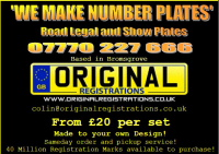 Registration Plates Made to Order