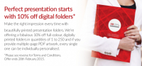 Perfect presentation starts with 10% OFF digital folders
