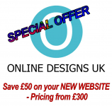 Save £50 on your NEW WEBSITE - pricing from £300
