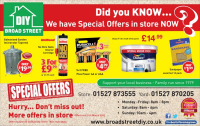 Latest Special Offers from Broad St DIY