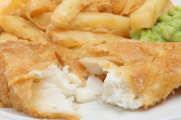 FRIDAYS UNTIL 6PM - x2 FISH AND CHIPS AND TEA OR COFFEE FOR £9.99