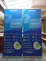 TWO Exhibition Roll-Up Banners for only £150+VAT