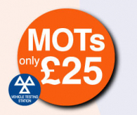 MOT £25.00 (includes free re-test)