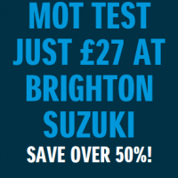 Half Price MOT Test just £27  - Save over 50% on VOSA fee at Brighton Suzuki