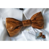 Hand Carved Wooden Bowtie And Cufflinks*