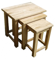 SOLID OAK NEST OF TABLES WAS £149 NOW £99