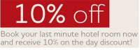 Book a room at Jurys Inn London Croydon for tonight and enjoy a 10% on the day discount.