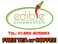 FREE TEA OR COFFEE - EDIBLE ORNAMENTALS CHILLI FARM