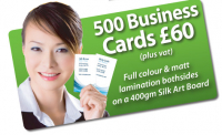 500 Business cards for £60