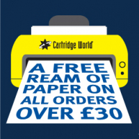 A Free Ream of Paper on all orders over £30