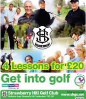 4 golf lessons for only £20 at Strawberry Hill GC