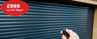 Insulated roller garage door for less then £1000 with Chamberlain Doors