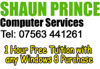 1 Hour Free Tuition with any Windows 8 Purchase...
