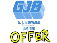 £10 OFF Any Skip Hire at G.J. Bowmer (Waste Disposal) Brentwood