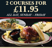 Special 2 Course Menu. Sunday- Friday only £11.95.