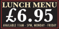 Special Lunch Menu only £6.95.