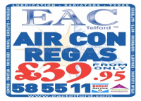 Air Con Regas from just £39.95 at EAC Telford