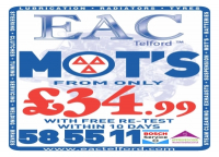 MOT's from only £34.99 at EAC Telford