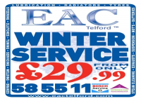 Winter Service from only £29.99 at EAC Telford