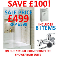 Get an entire Curve Complete Bathroom Suite for only £499.