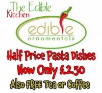 Half Price Pasta Dishes Usually £5.00 now Only £2.50 & Free Tea or Coffee