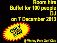 Save £300 on a celebration at Warley Park Golf Club