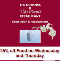 25% off Food on Wednesday's and Thursday's