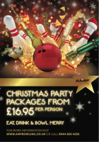 CHRISTMAS PARTY PACKAGES FROM JUST £16.95PP