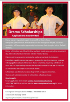 Drama Scholarships available