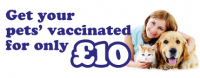 Pet vaccinations for only £10