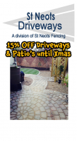 15% off all Driveways & Patio's