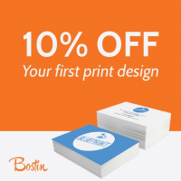 10% OFF your first Print Design from Bostin