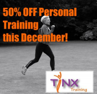 50% OFF  December Personal Training!