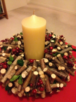 Christmas Wreath and table setting
