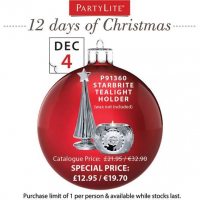 On the 4th Day of Christmas Partylite Gave to You...