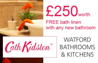 £250 worth of Cath Kidston® Bathroom Linen with any new bathroom supply